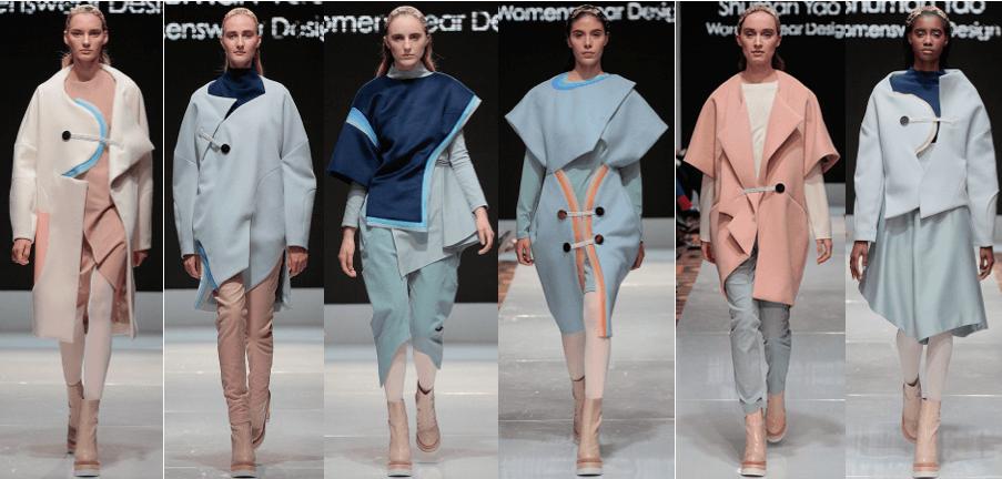 Photo of female models wearing clothing designed by Shuman Yao