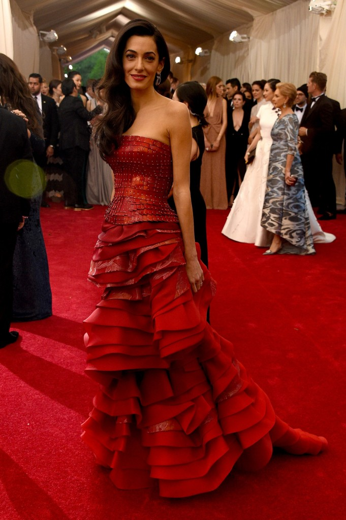 Amal Clooney in Maison Margiela and Lorraine Schwartz jewelry. Image: vogue.com