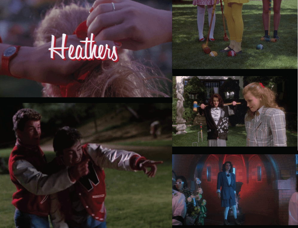 """Still's from the """"Heathers"""" movie, which is a main source of inspiration for this collection. Image: courtesy of eremy Vu, Lupita Ramirez and Justin Lei Wang."""