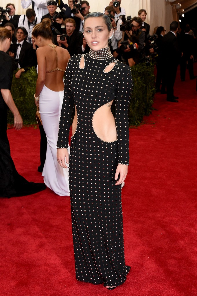 Miley Cyrus in Alexander Wang and Ana Khouri ear cuff. Image: vogue.com