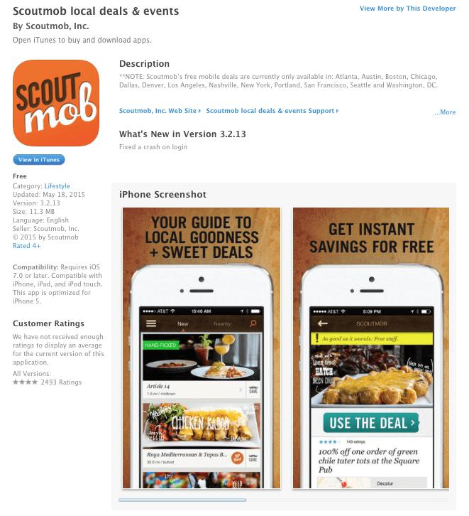 Scoutmob Preview; Image via Itunes.apple.com