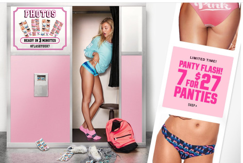 Provocative photo from Victoria's Secret Pink line. Image courtesy of Victoria's Secret