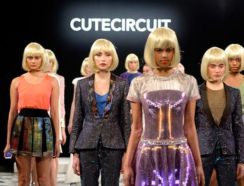 CuteCircuit's futuristically fashion-forward pantsuit; Image via Tumblr.com
