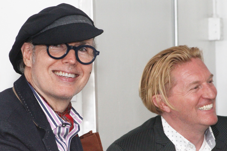 Dandy Patrick McDonald with Senior Director of Fashion Merchandising Keanan Duffty. Photo by Bob Toy.