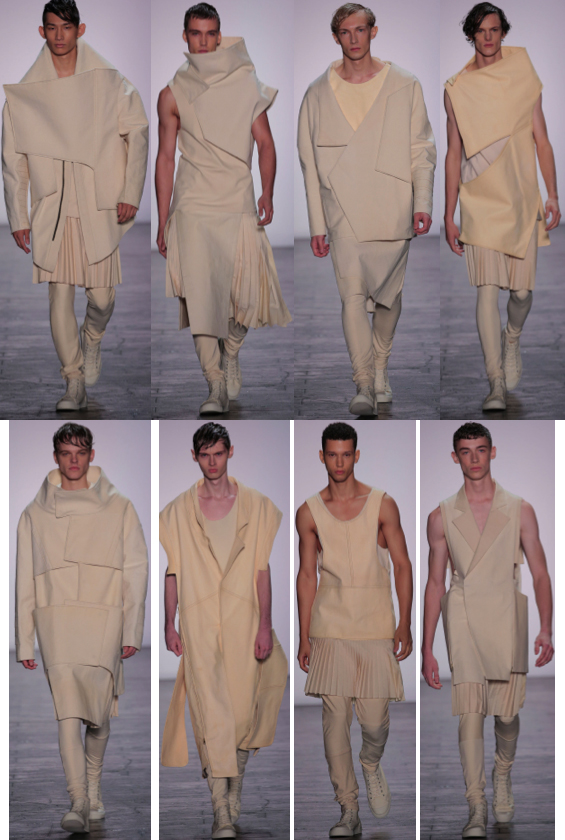 Spring 2016 collection by Ruone Yan, B.F.A. Menswear Design