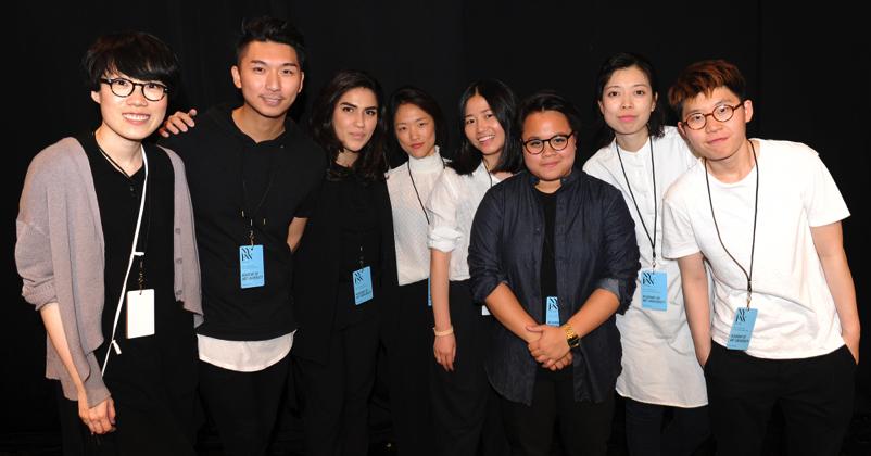 From left to right: Jingci Jessie Wang, Max Lu, Mehrzad Hemati, Bom Kim, Liz Li, Livia Bianda, Wenhan Yuan, and Ruone Yan. Photo by David Dooley.