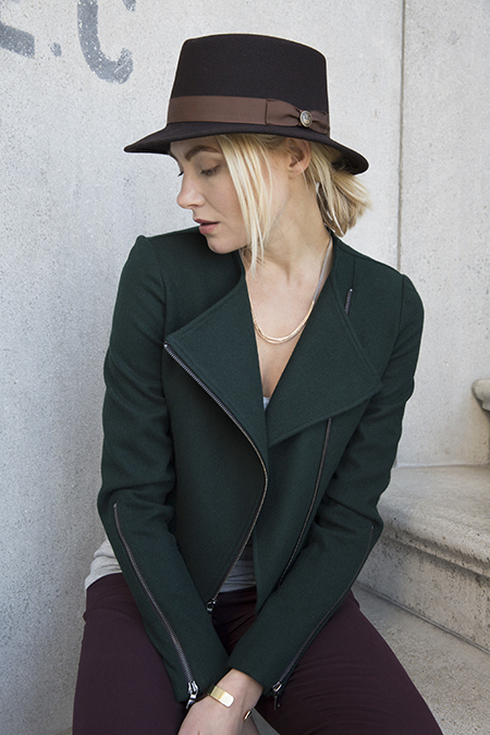 A Forest Green Moto Jacket