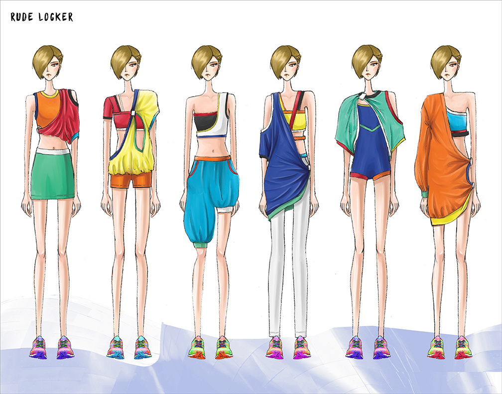 Illustrated lineup for her Spring 2016 collection.