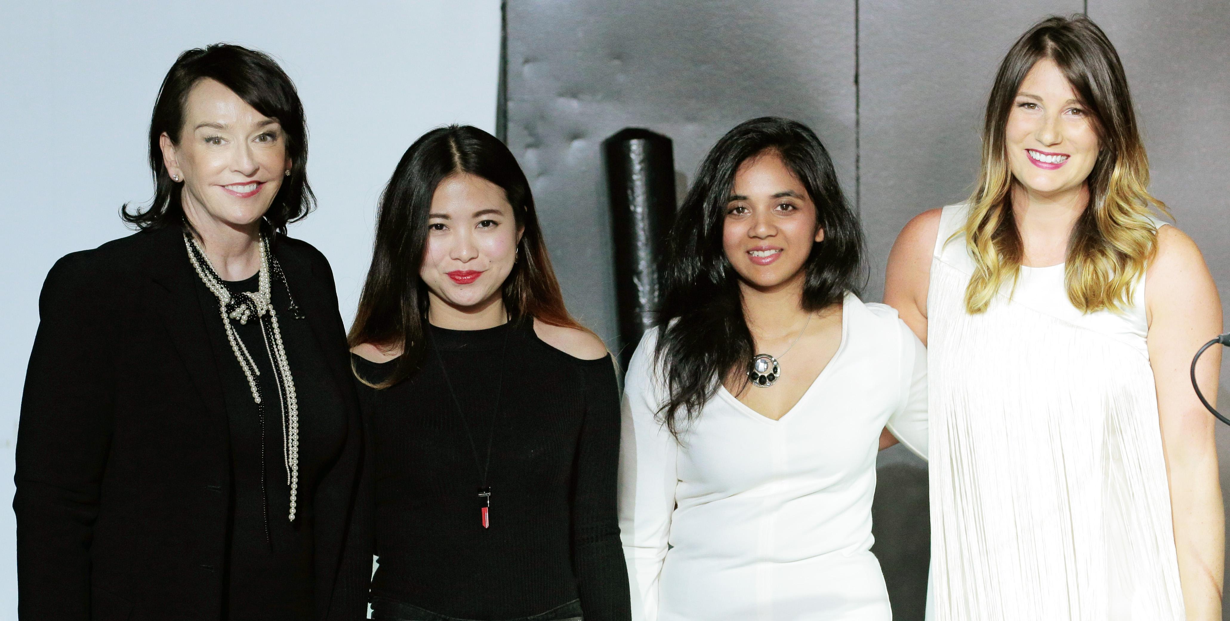 Elisa Stephens, Yarina Yaou and Namrata Loka, Kim Chappell