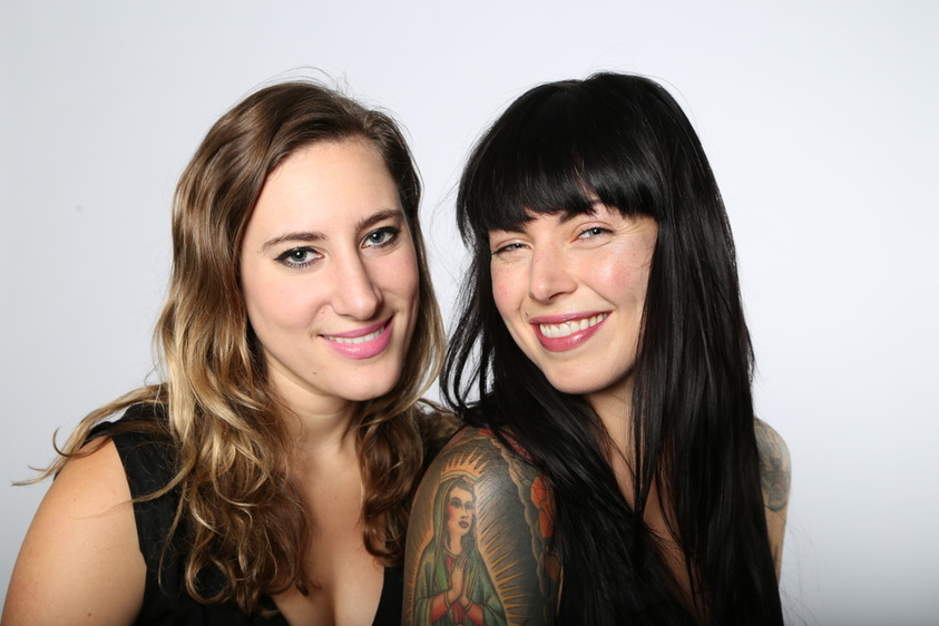Jessica Assaf + Alexis Krauss of Beauty Lies Truth. Image courtesy of whatittakesmag.