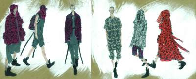 "The illustrated lineup for Moreno and Bhandari's collection, entitled ""Daredevils"""