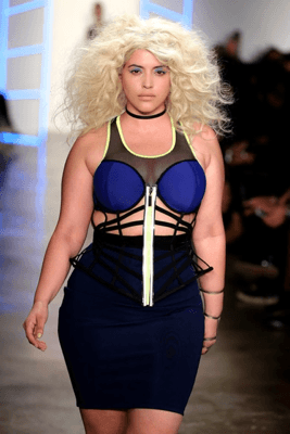 Model in Chromat at NYFW FW 2017. Image: Thomas Concordia, Getty Images.
