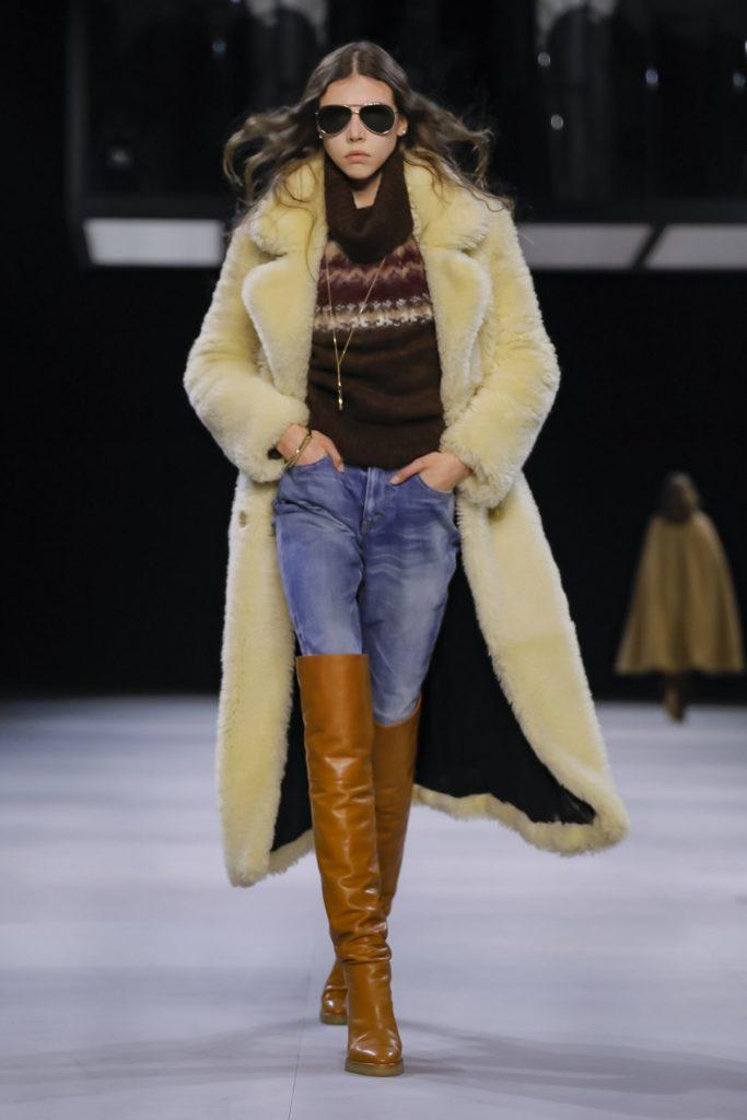 celine fur coat