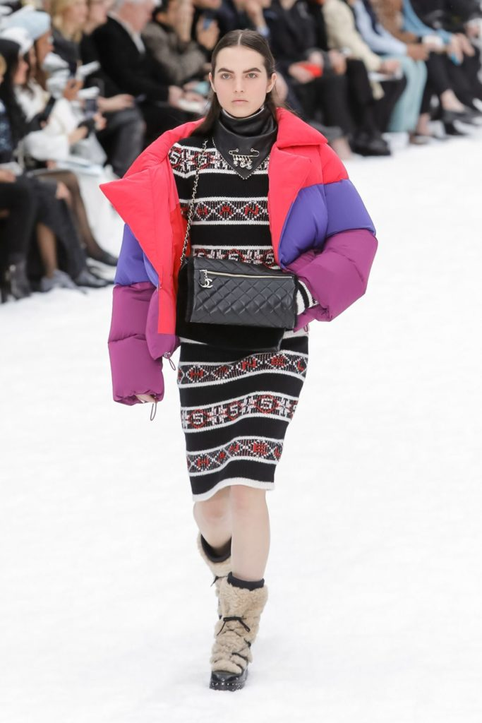 chanel multicolored snow jacket