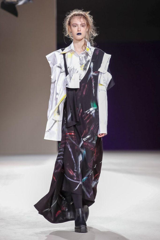 yohji yamamoto graffiti dress