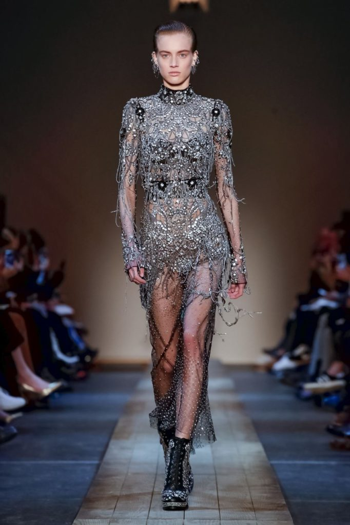 alexander mcqueen embellished dress