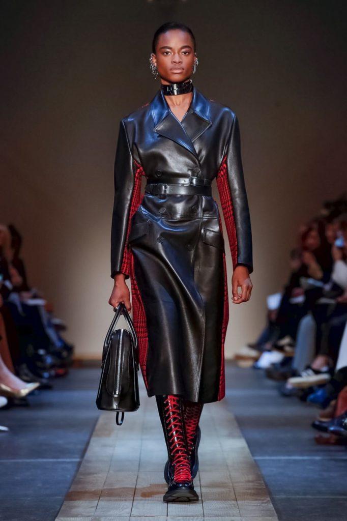 alexander mcqueen leather coat
