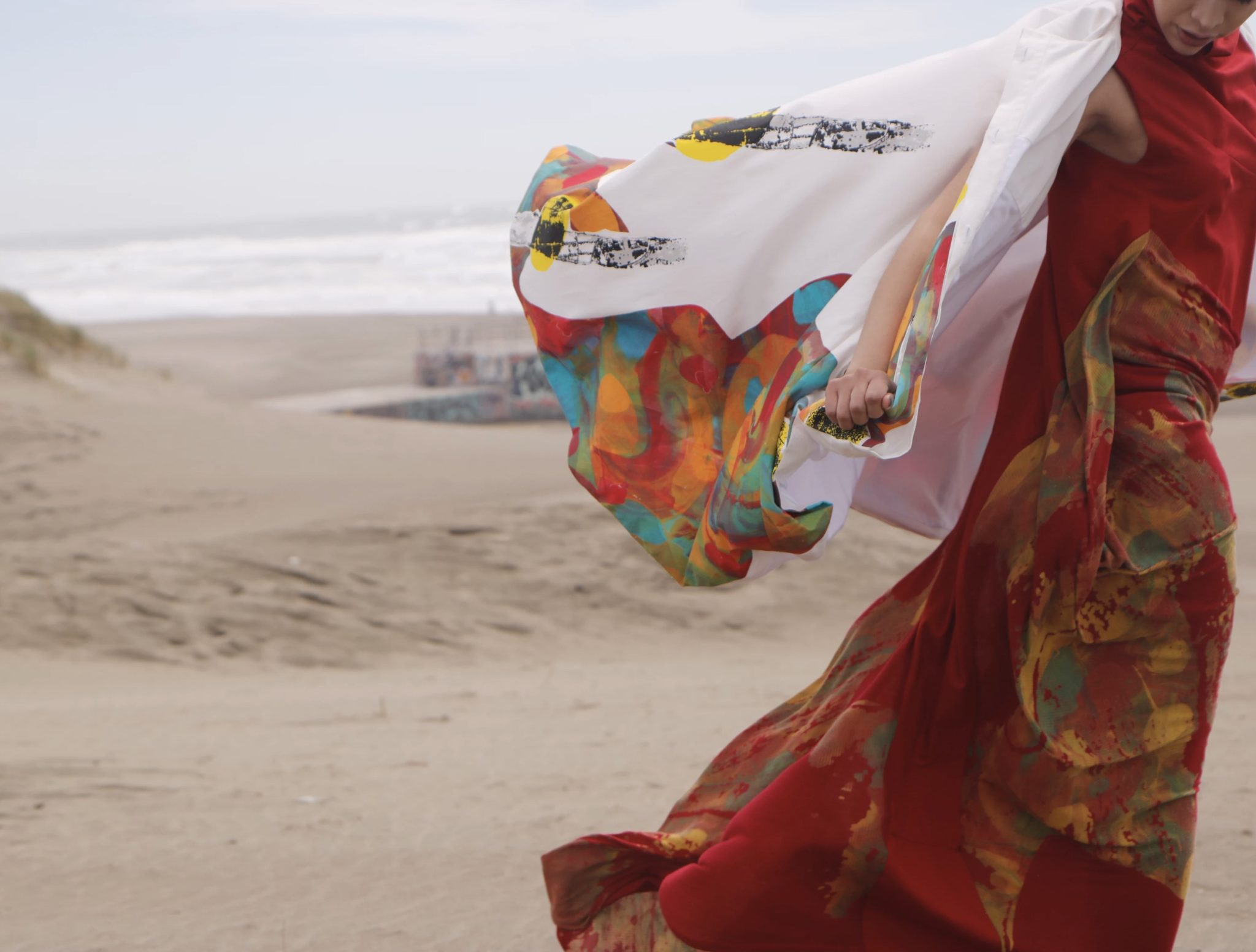 Claudia Tan, BFA Fashion Design, and Pamela Toribio, BFA Textile Design, collaborative collection
