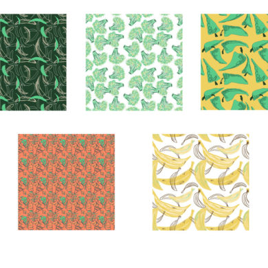 Textile Design sketches by Ashley LeMay